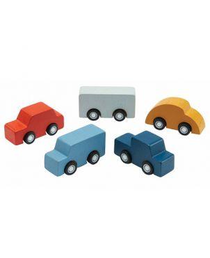5 mini coches madera – Plan Toys