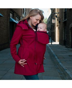 Abrigo de porteo y embarazo Wombat shell - Rojo L