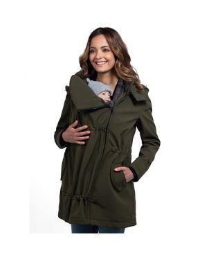 Abrigo de porteo y embarazo Wombat shell - Verde L