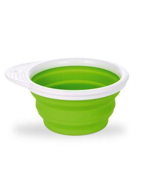 Cuenco plegable Go Bowl™ silicona con tapa - Verde