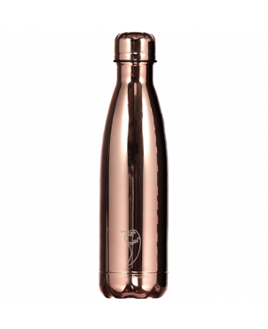 Botella termo Chilly's - Cromado oro rosa 260ml