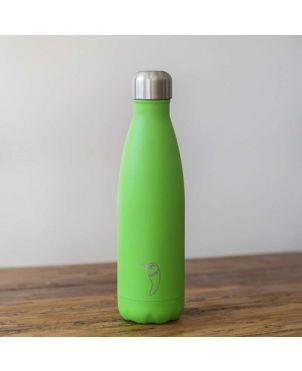 Botella termo Chilly's - Neon verde 500ml