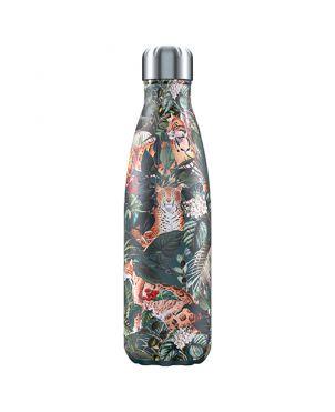 Botella termo Chilly's - Tropical leopardo 500ml