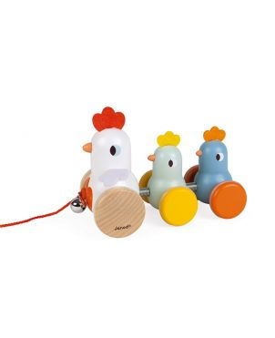 Arrastre gallina y sus pollitos - JANOD