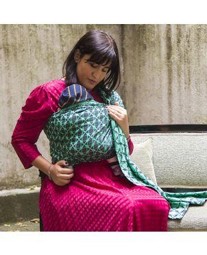 Bandolera Granujas fular Huggyberry - Algodón Marble esmeralda