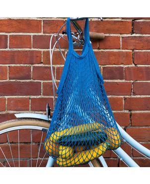 Bolsa malla algodón - Azul