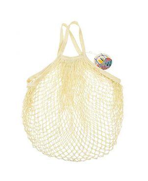 Bolsa malla algodón - Crema
