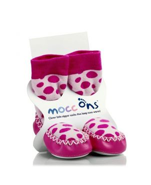 Calcetín – zapato Mocc Ons - Pink dots 12 a 18 meses
