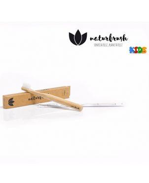 Cepillo de dientes bambú NaturBrush - Natural kids
