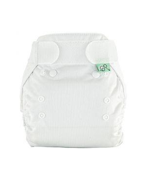 Cobertor pañal PeeNut Tots Bots - Blanco talla 2