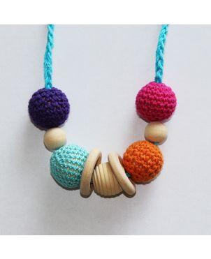Collar lactancia artesanal crochet Granujas - Multicolor