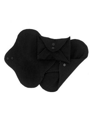Compresa de tela reutilizable - Negro pequeña