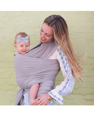 Fular elástico Boba Wrap Serenity - Light gray