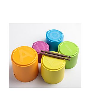 Juguete apilable y tambores biodegradables eKaboom