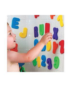 Juguete baño letras y números