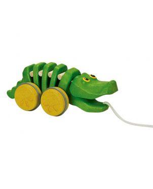 Arrastre Cocodrilo PlanToys - Verde