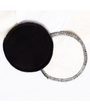 Discos lactancia artesanales lavables Granujas - negro orgánico