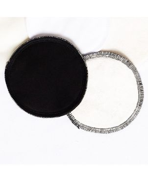 Discos lactancia artesanales lavables Granujas - negro siempre seco