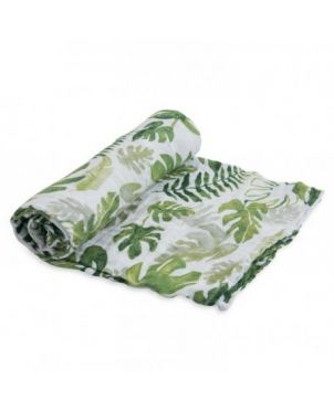 Muselina algodón Little Unicorn 120x120 - Tropical leaf