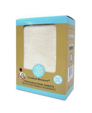 Pack 3 absorbentes cáñamo Charlie Banana - Grande