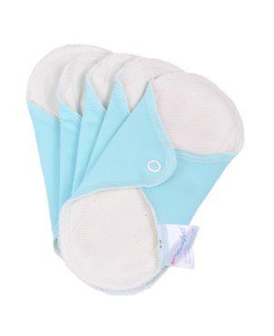 Pack 5 Compresas de tela reutilizables + bolsa Neo Comfort - Pequeña - mint