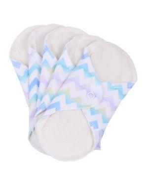 Pack 5 Compresas de tela reutilizables + bolsa Neo Comfort - Pequeña - ondas