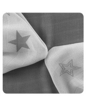 Pack 9 muselinas bambú 30x30 cm Xkko - Estrellas gris