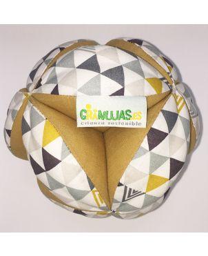Pelota Montessori - Triángulos mostaza