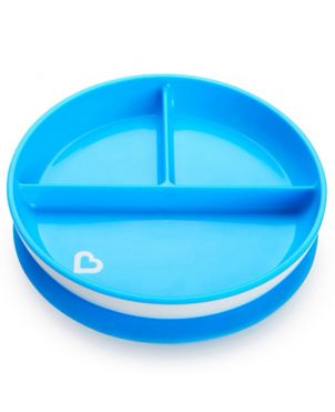 Plato ventosa Stay Put - Munchkin - Azul
