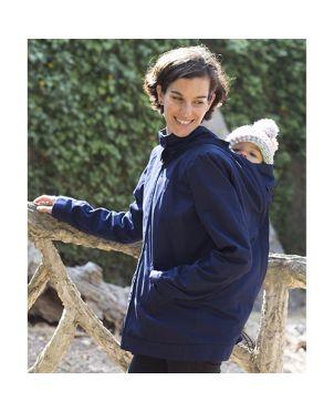 Abrigo de embarazo y porteo 4 en 1 Momawo - Navy XL