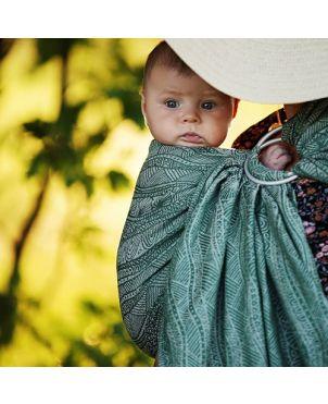 Bandolera Granujas fular Little Frog - algodón y lino - Green harmony