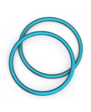Anillas de aluminio Sling Ring - 7,62 - turquesa
