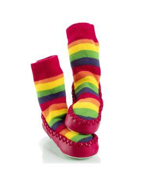 Calcetín – zapato Mocc Ons - Arcoiris 6 a 12 meses