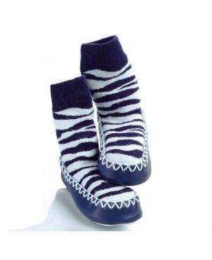 Calcetín – zapato Mocc Ons - Cebra 6 a 12 meses