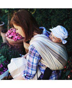 Fular tejido Little Frog - algodón y bambú Flint L
