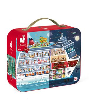 2 puzles maletín JANOD - Crucero