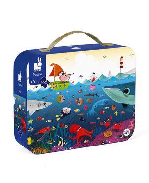 Puzle maletín JANOD - Mundo marino