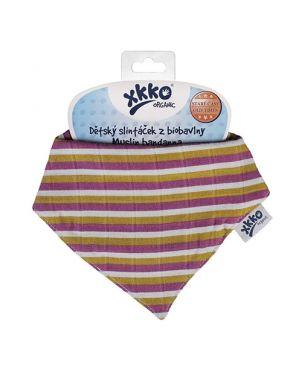 Quitababas muselina Xkko - Violet stripes