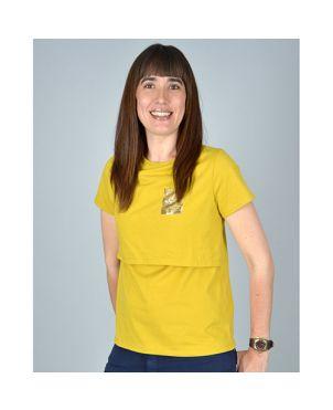 Camiseta lactancia Shine - Ocre S