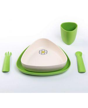 Vajilla bioplástico 100% biodegradable eKeat - Verde
