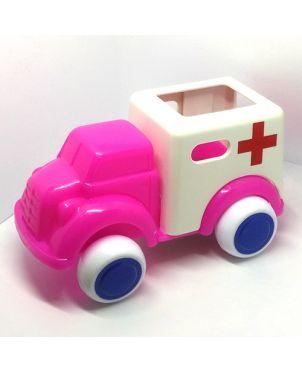 Vehículo Viking Toys - Ambulancia rosa